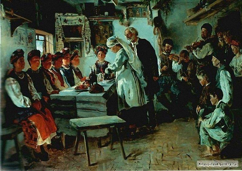 Маковський В. Є. (1846-1920) (1846-1920) Дівич-вечір 1882