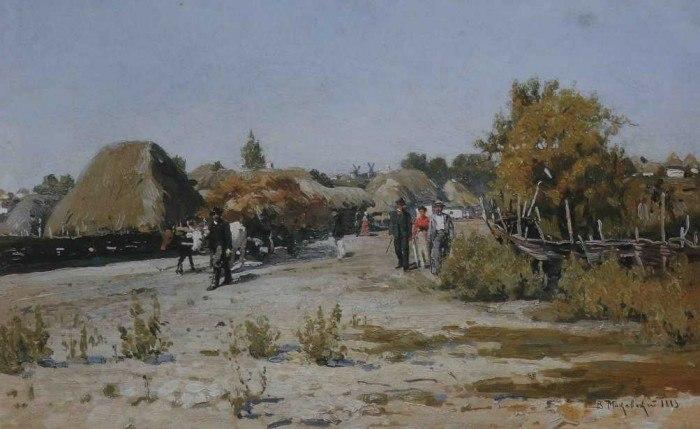 Маковський В. Є. (1846-1920) Український пейзаж (1883)