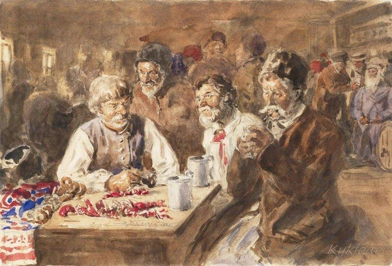 Маковський В. Є. (1846-1920) Українці в шинку. 1882.