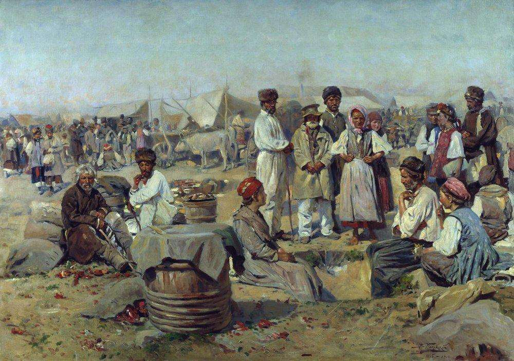 Маковський В. Є. (1846-1920) Ярмарок у Полтаві.