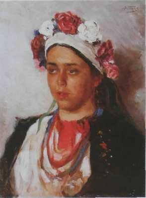 Маковський В.Є. (1846-1920 ) Дівчина-українка 1880
