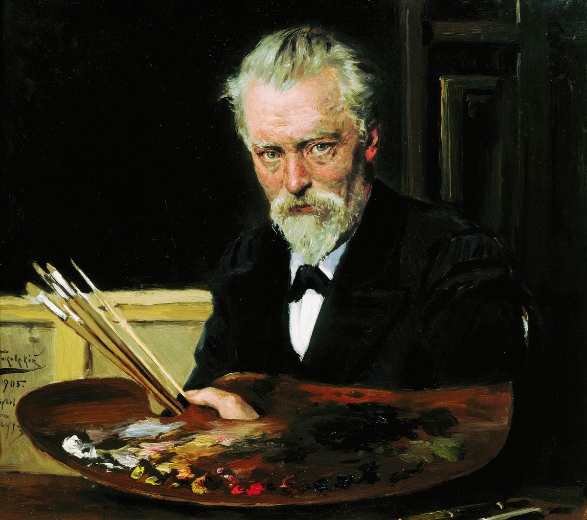 Makovsky_Vladimir_Egorovich,_Self_Portrait_-_1905