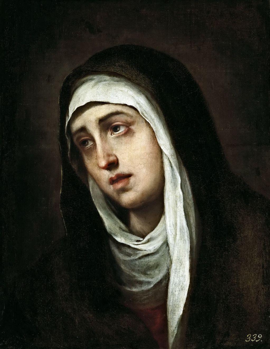 Мурильо Бартоломе Эстебан (1617-1682) Скорбящая Богородица