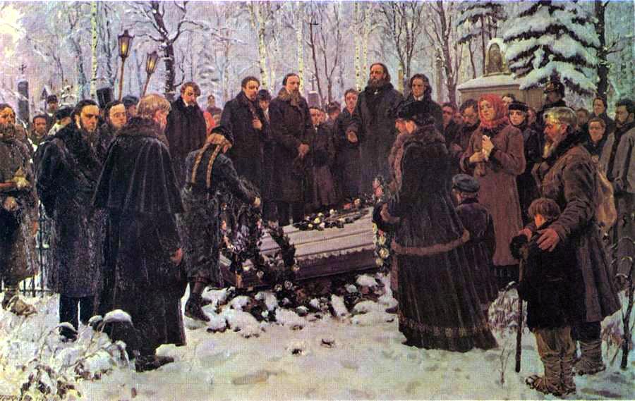 Похороны Тараса Шевченко в Петербурге на Смоленском кладбище