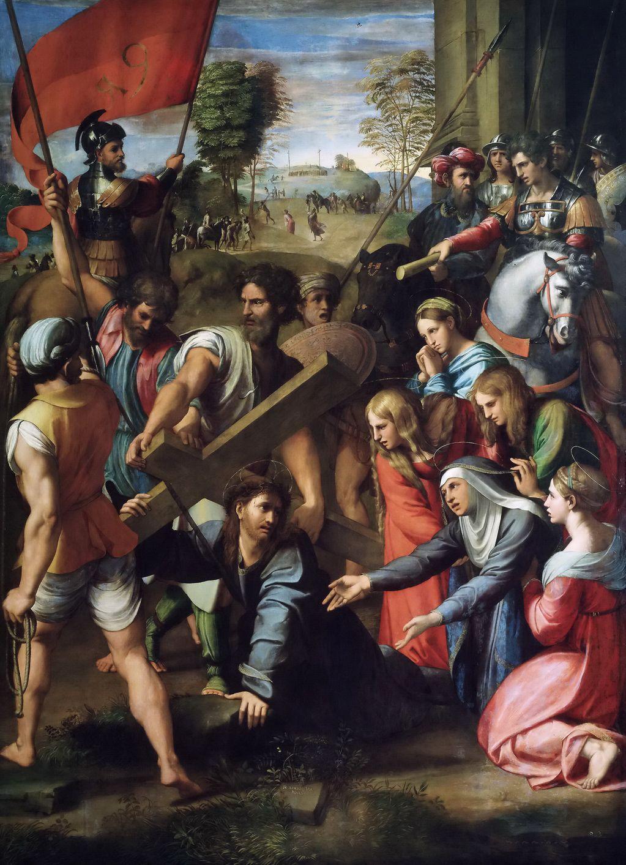 Рафаэль (1483 — 1520) Падение Христа на пути к Голгофе