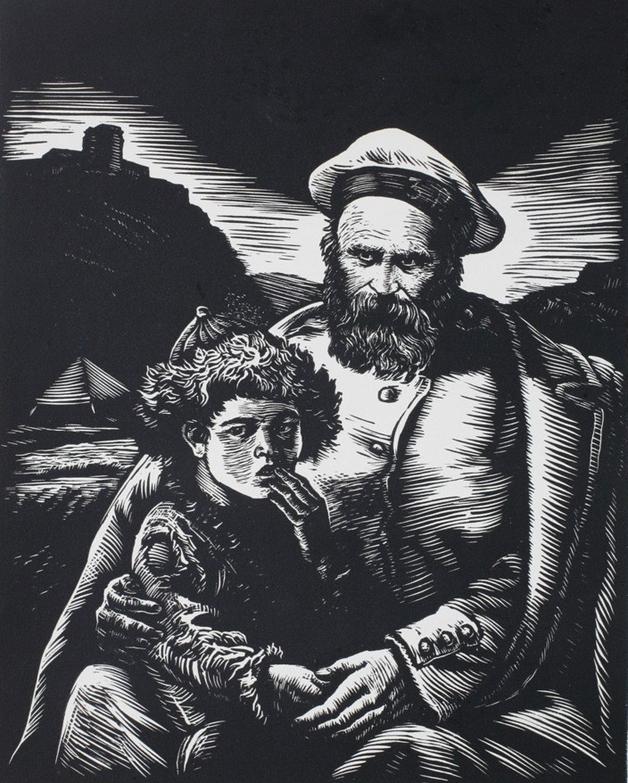 Шевченко с казахским мальчиком Касія В.