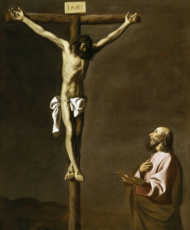 Сурбаран, Франсиско де (1598 —1664) Св Лука перед Распятием