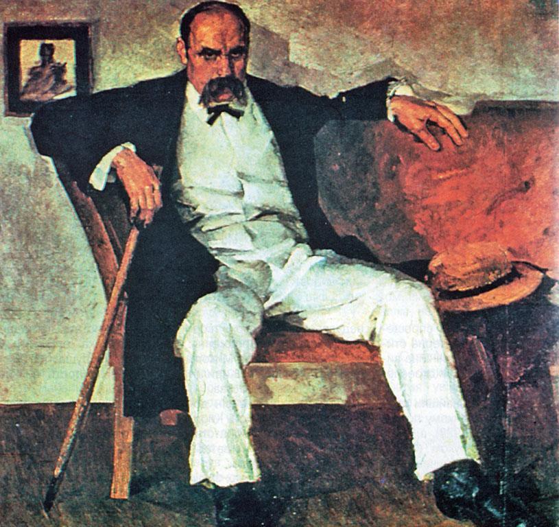 T. Shevchenko. 1929. Polotno, oliya