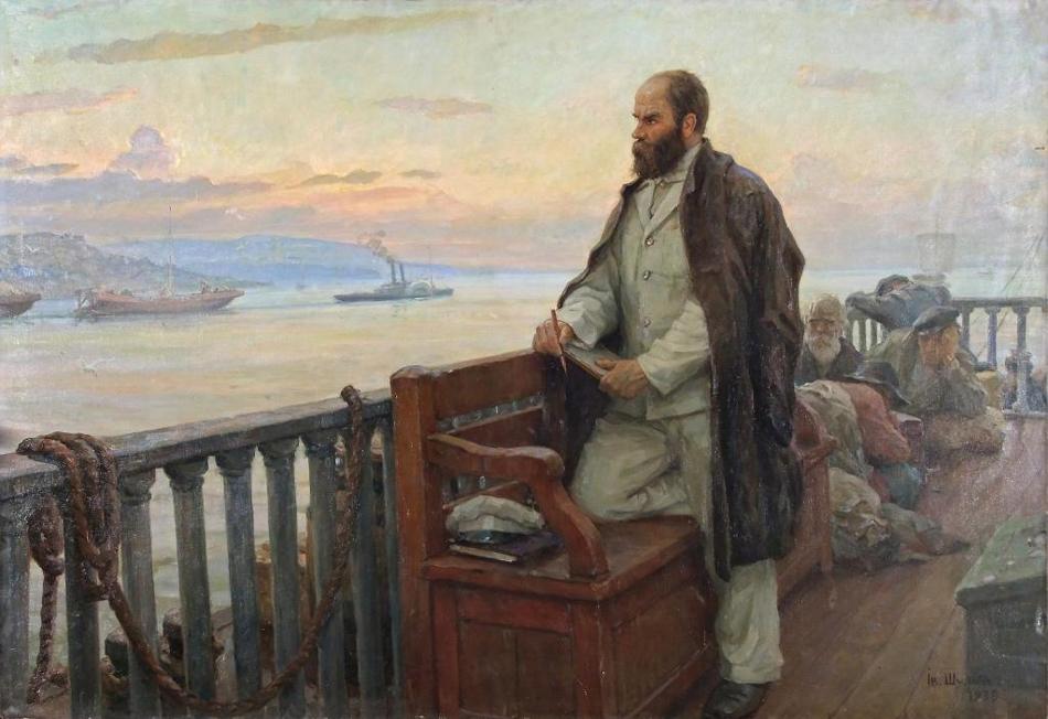 Т.Г. Шевченко на пароходе возвращается из ссылки Шульга І.