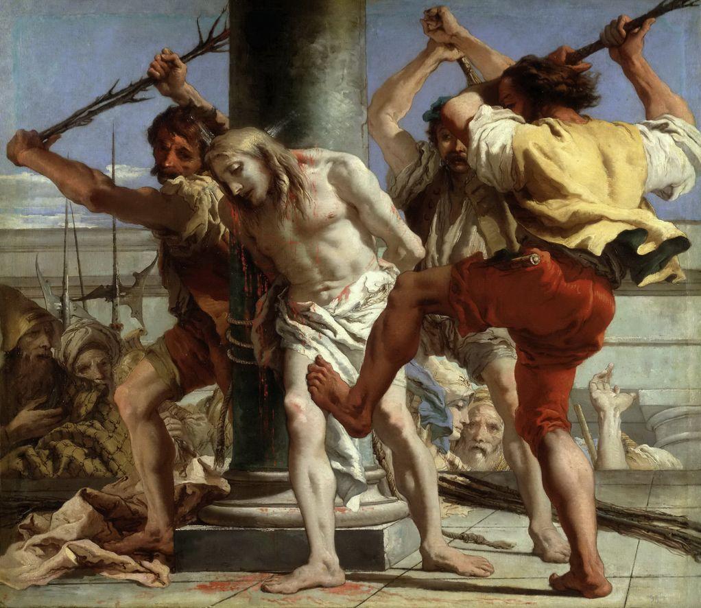 Тьеполо, Джованни Доменико (1727-1804) Бичевание Христа
