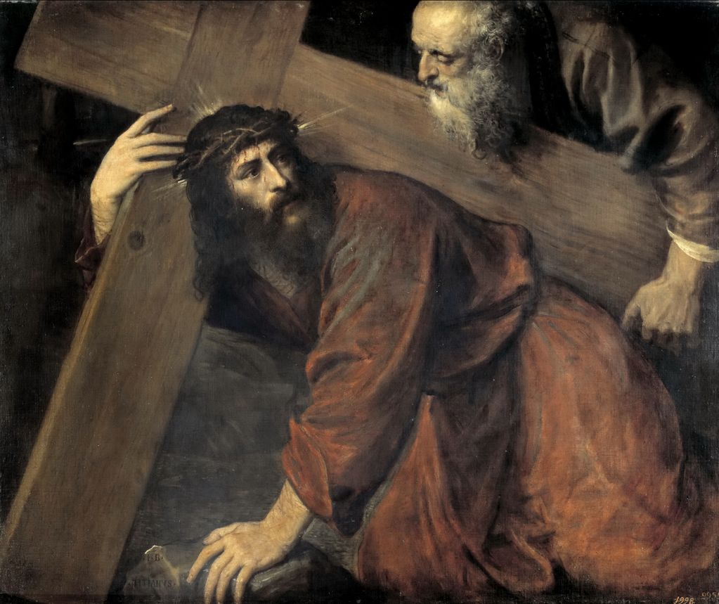 Тициан Падение Христа на пути к Голгофе