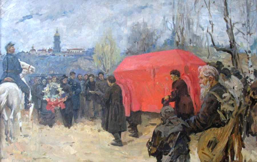 Встреча гроба с телом Кобзаря в Киеве В.С.Болдирєв