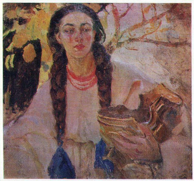 Дівчина з косами. 1912
