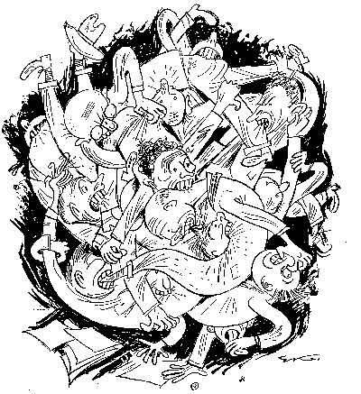 Карикатура «Нарешті сконсолідовані»,