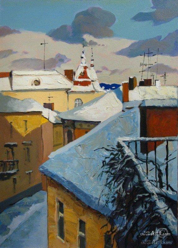 Львовские крыши. Зима