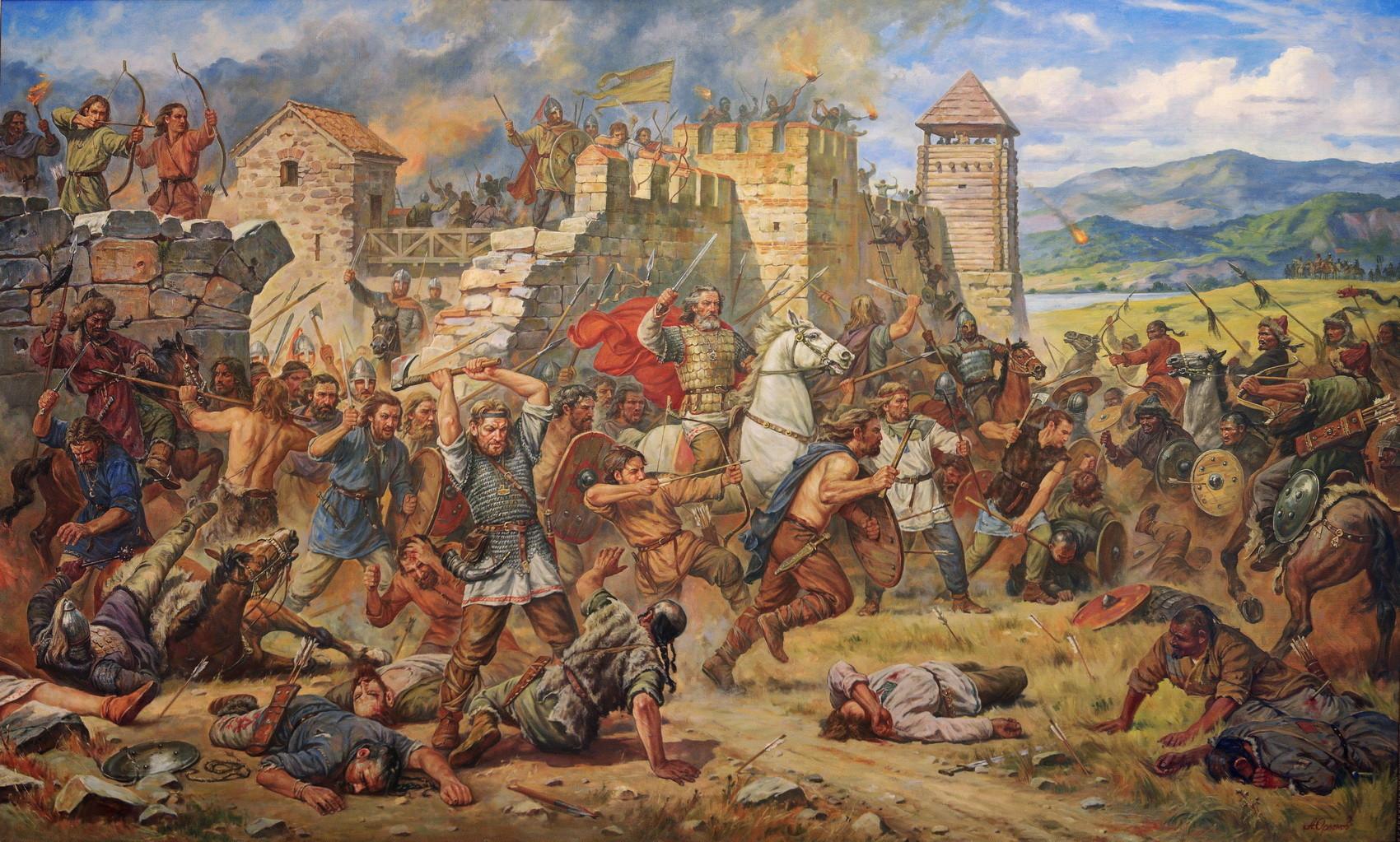 Оборона Киевца на Дунае.487 г.