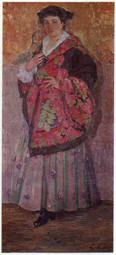Портрет Л.Я. Старицької на золотому тлі. 1914