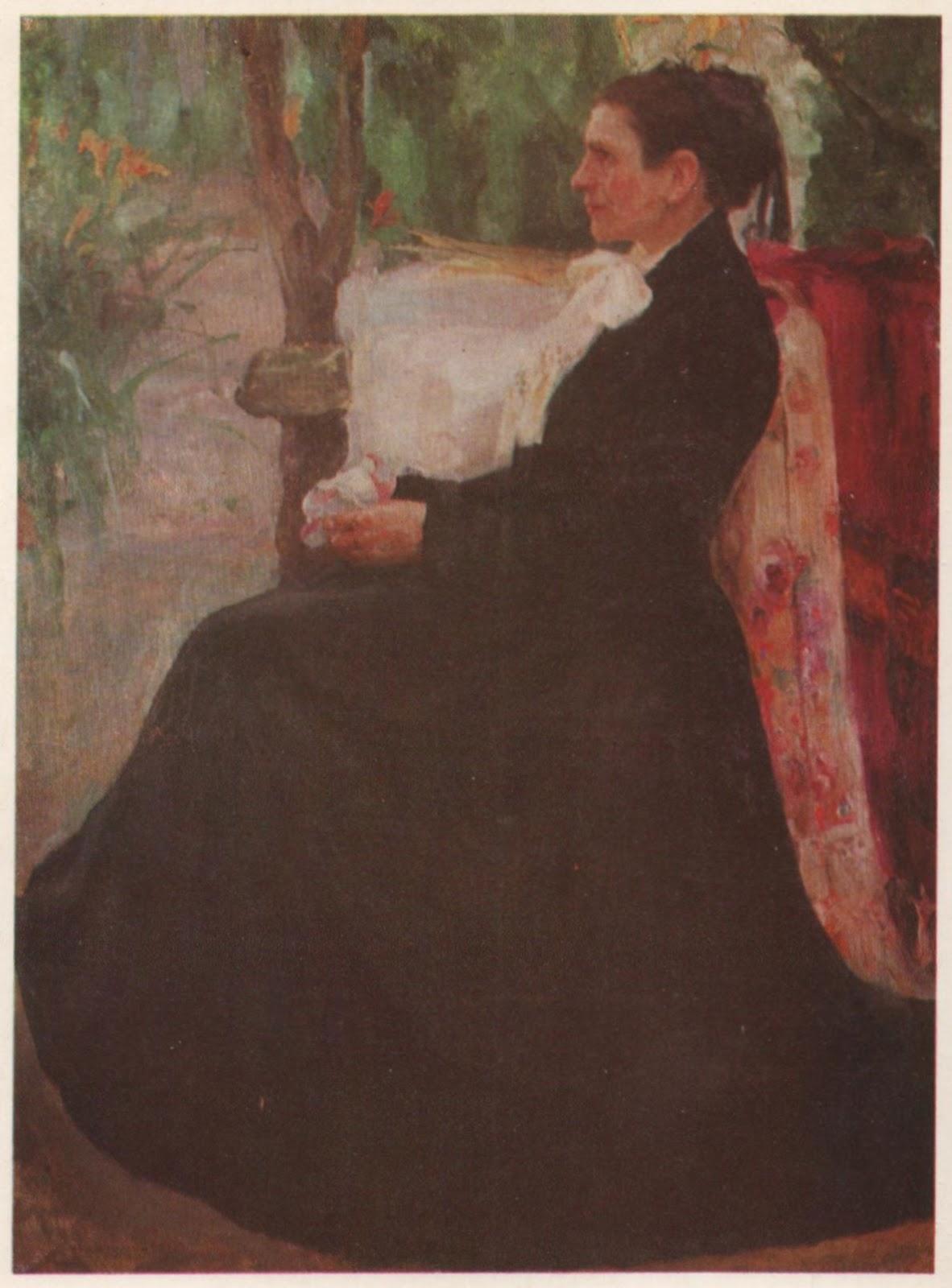 Портрет П.Г. Кричевської, матері художника. 1903-1904