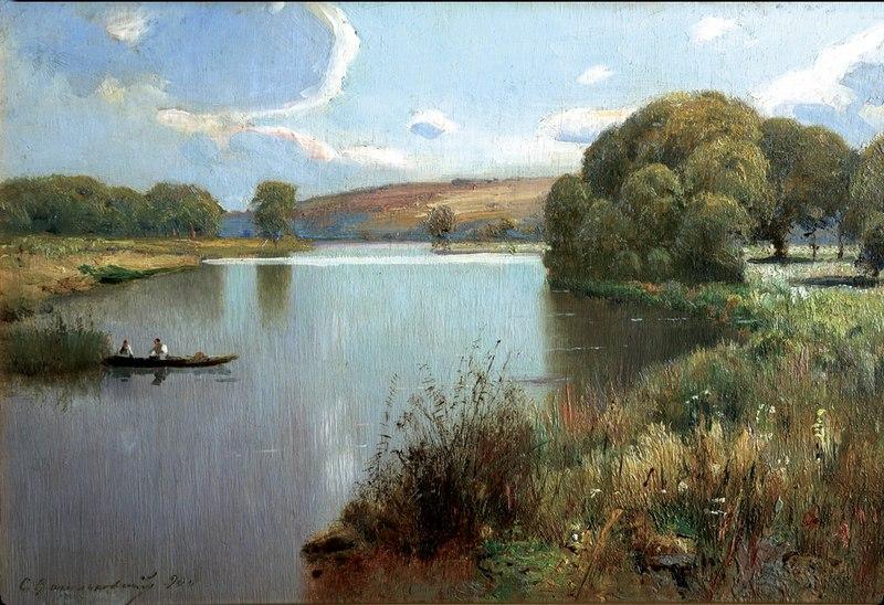 Річка в полудень