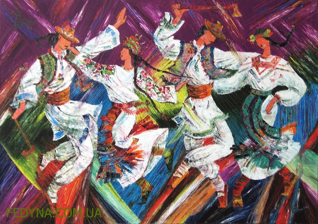 Серія Фольк. Гуцульські танці з топірцями