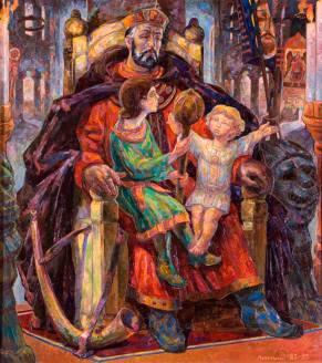 Триптих «Князь Данило Галицкий». Правая часть, «Отец»