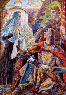 Триптих «Князь Данило Галицкий». Центральная часть, Мать