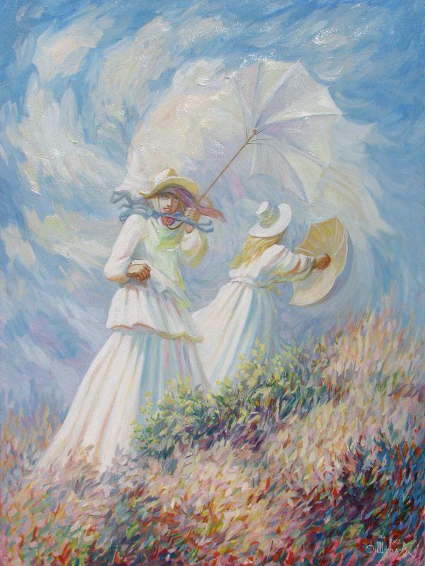 Вітряний день. Клод Моне.
