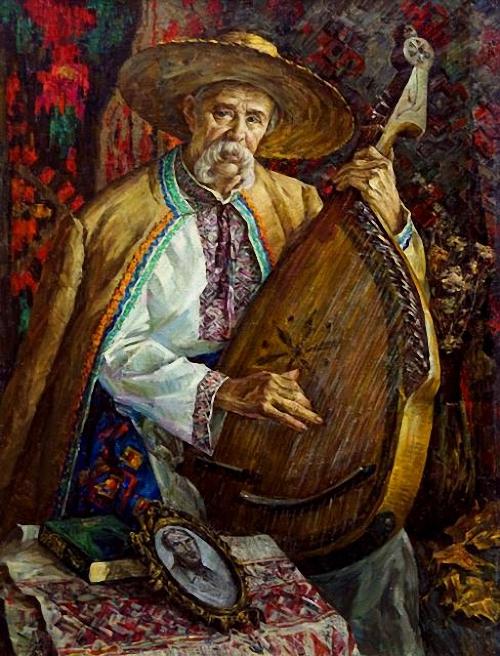 Якимец Анатолий Яковлевич (Украина, род. 1943) Запорожский кобзарь Владимир Дяденко.
