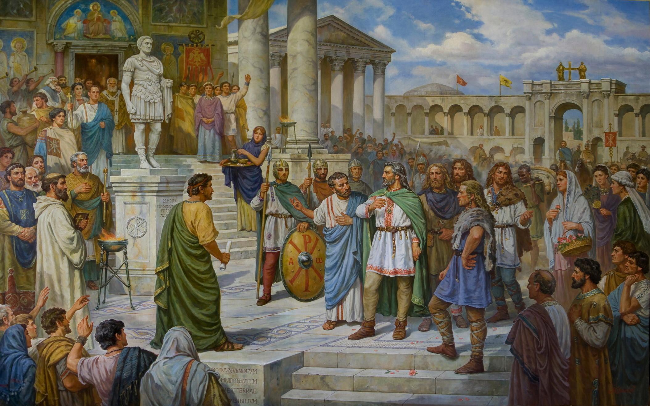 прием князя Кия в Константинополе 485 г.