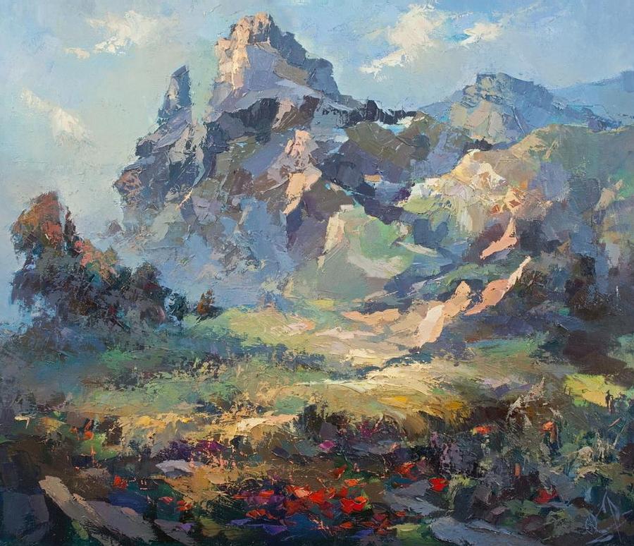 Солнечный день в горах