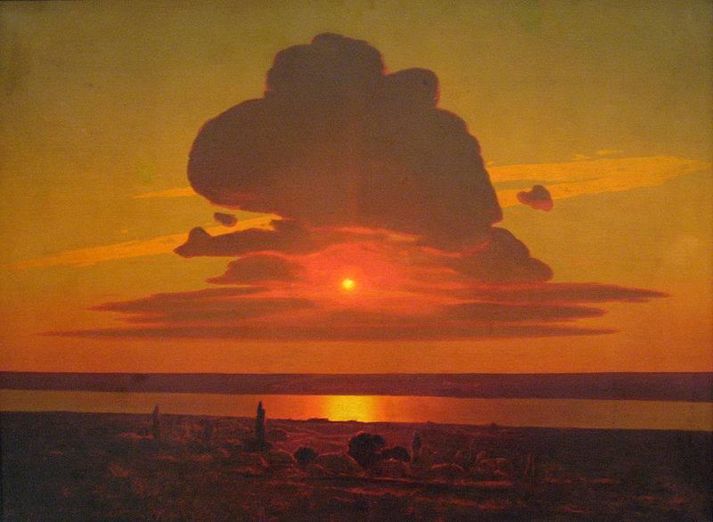 Захід сонця над Дніпром, 1905