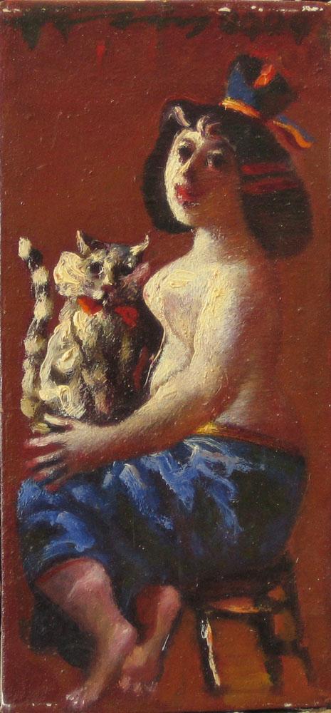 Девушка с котом, 2000