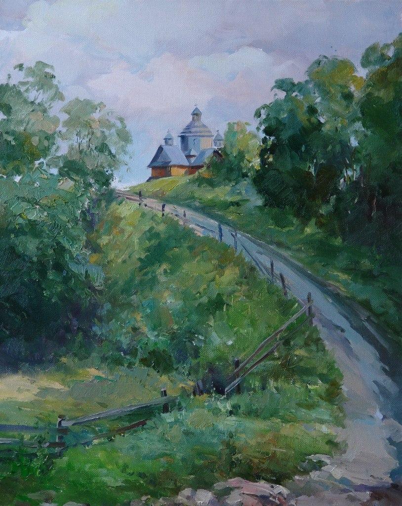 Дорога до храму, 50х40, олія ,полотно, 2010 р.