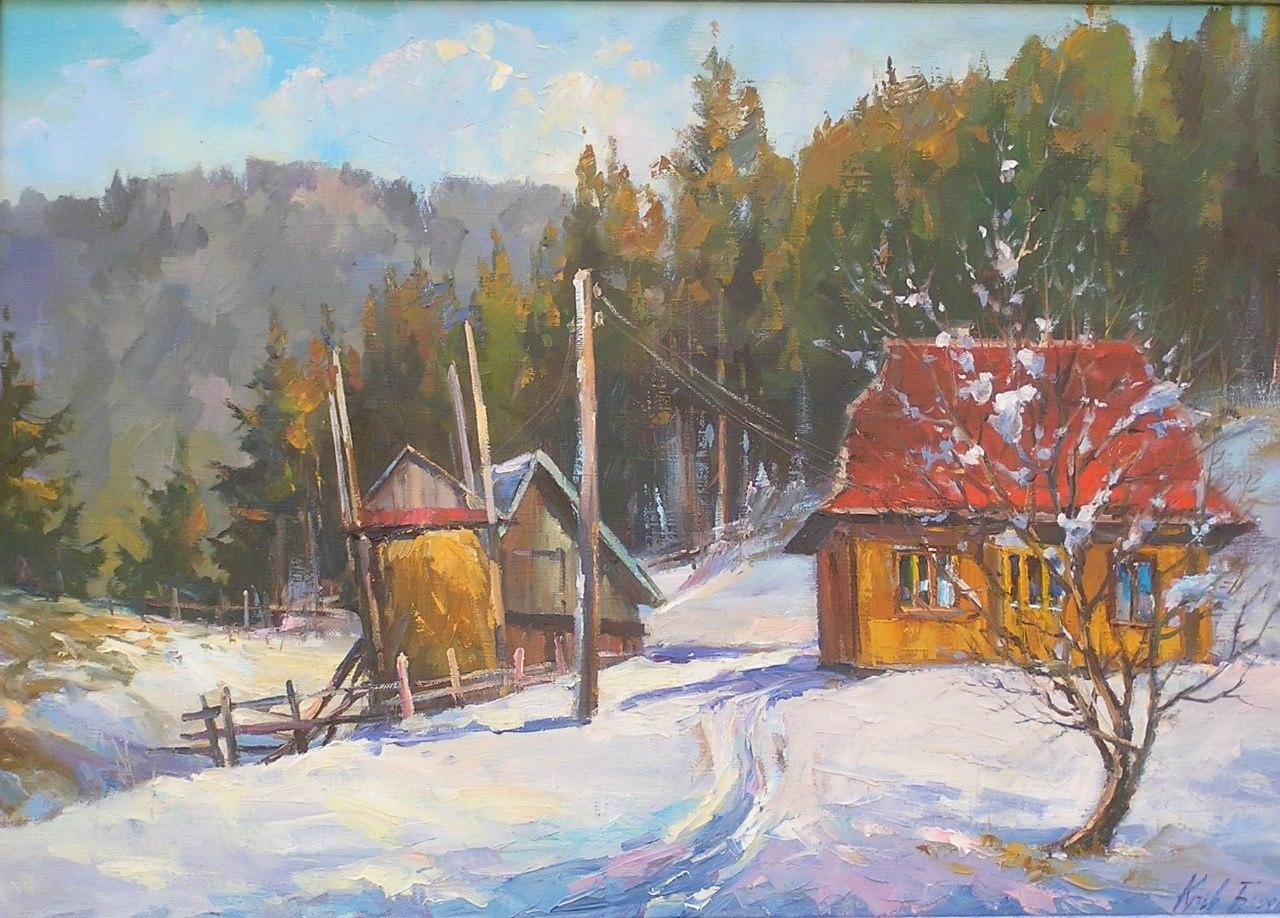 Карпатська зима 50х70, холст,масло, 2011 р.