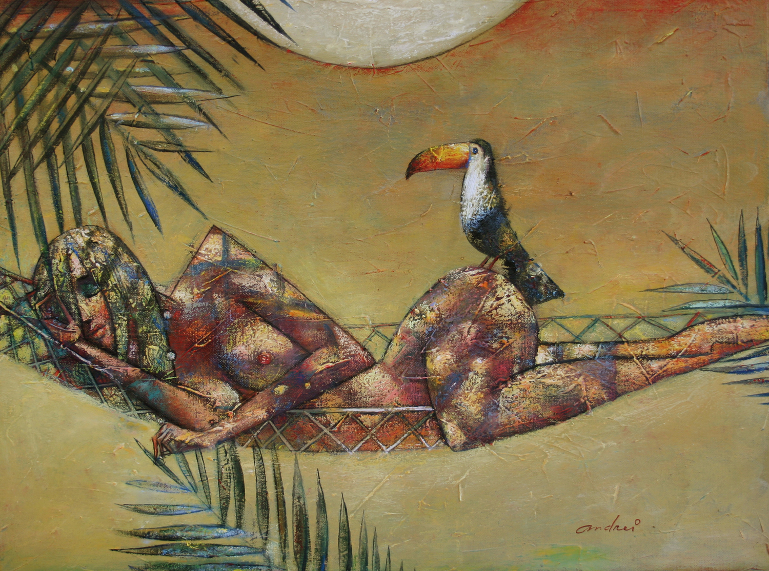 Toucan+Play+18+x+24++New+Oil+on+Canvas
