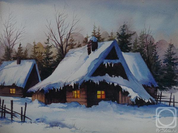 Зимний карпатский вечер