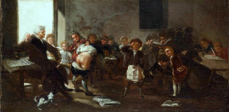 Francisco de Goya (Spanish, 1746-1822) School Scene. 1780 г.