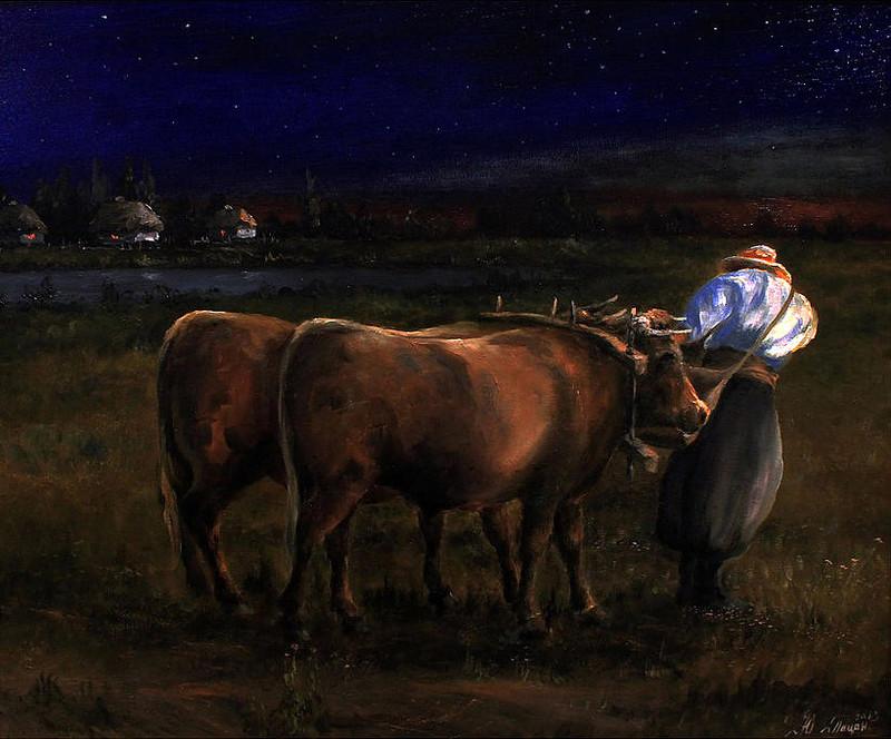 Диптих. Ночь в поле