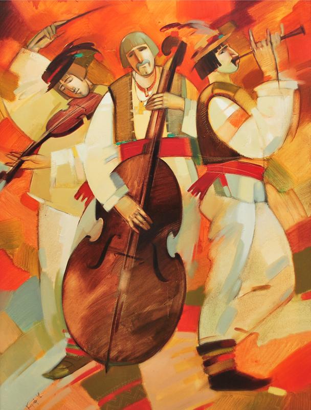 На свято. х.м. 95х125. (грай музики)