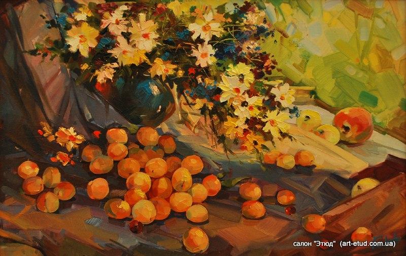 Натюрморт с абрикосом