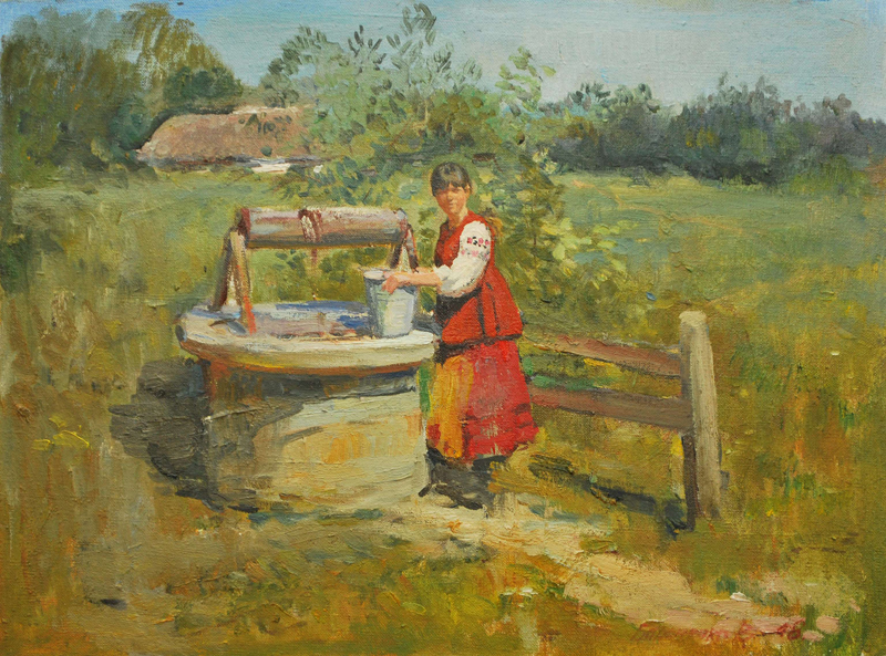 По воду (За водой). 30х40. х.м.2008г._20111102131443