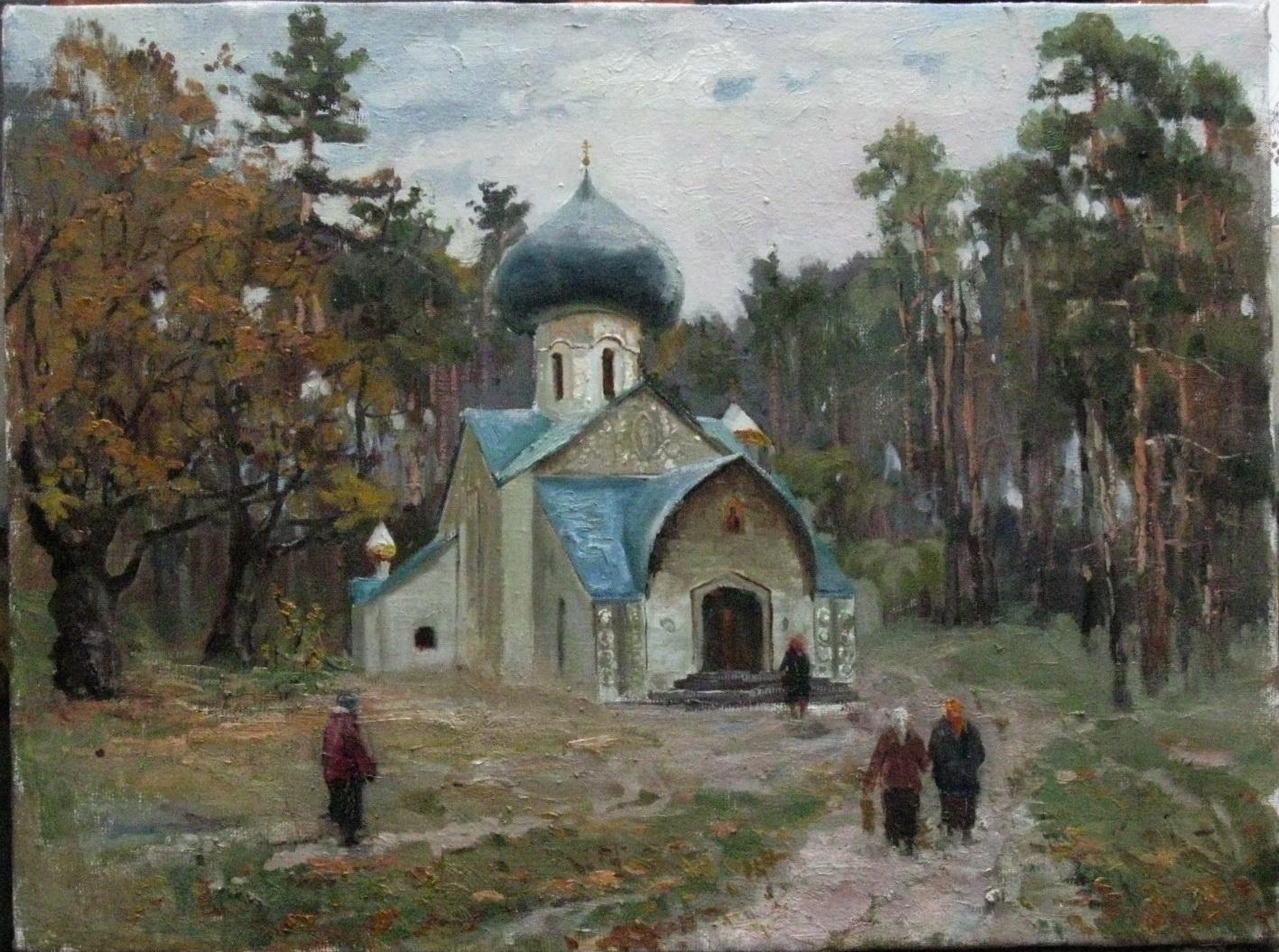 Церковь в с. Натальевка. После литургии