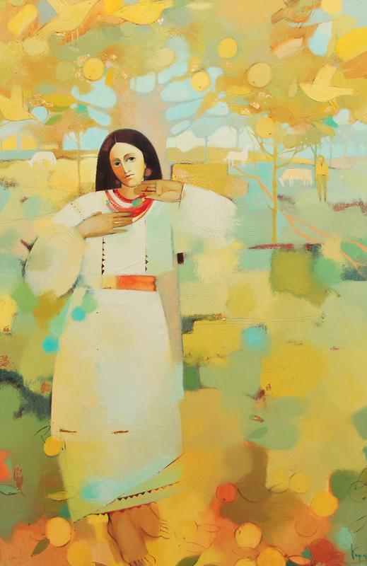 Закохана. х.м. 130х85. 2010