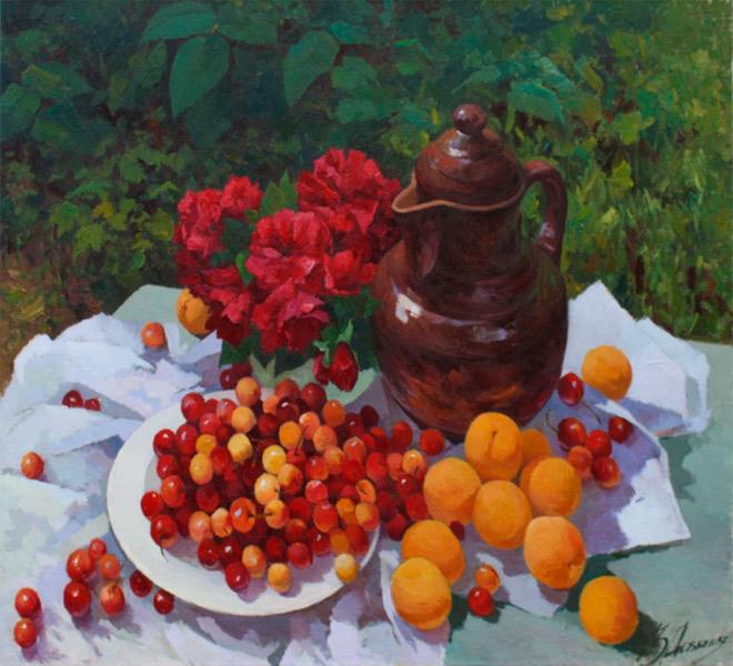 Черешня с абрикосами