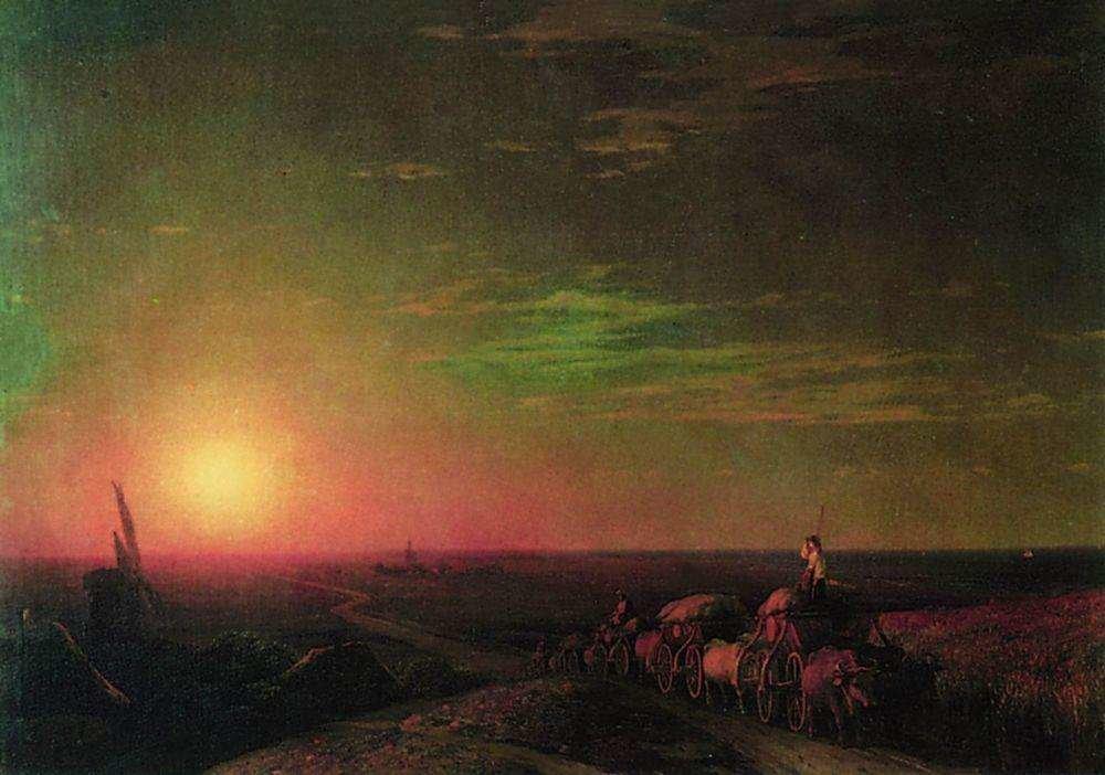 Обоз чумаков. 1862