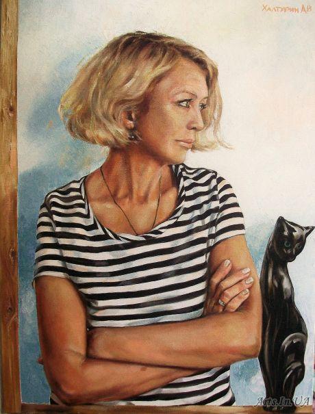 Одесситка и черная кошка-копилка