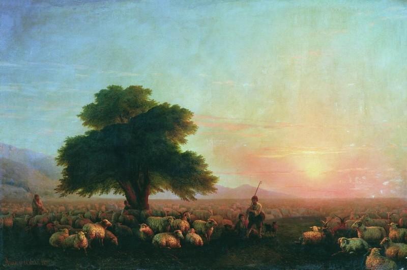 Отара овець 1857
