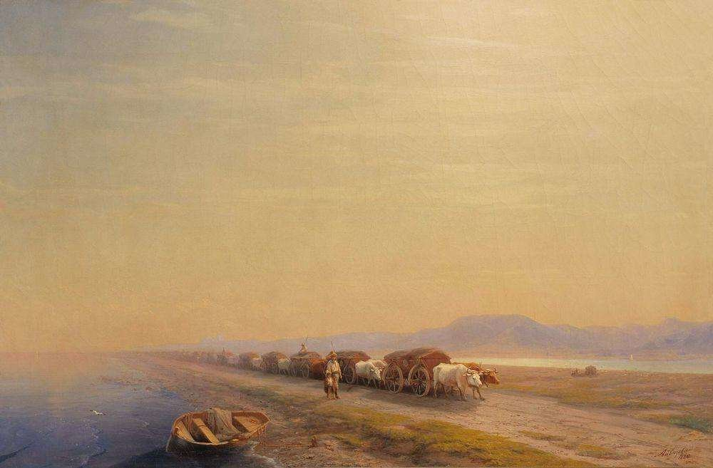 Волы на перешейке. 1860