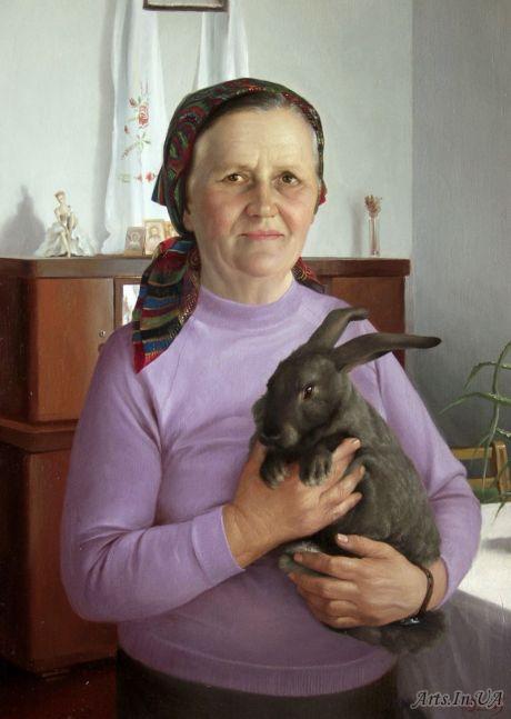 Женщина с кроликом