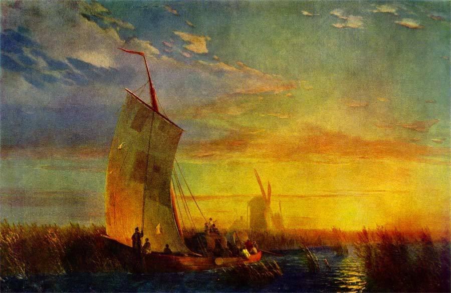 амыши на Днепре близ местечка Олешки_1857
